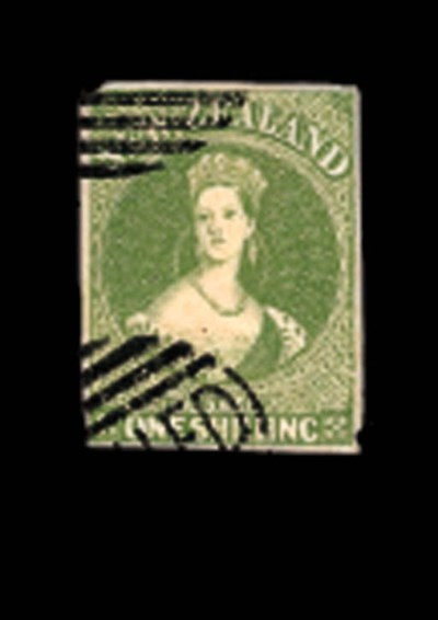 Cancelled  1/- yellow-green wi