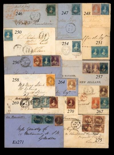 cover 1858 (Jan.) envelope fro