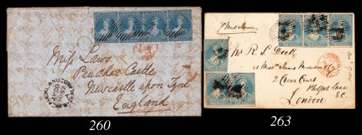 cover 1857 (30 July) entire le