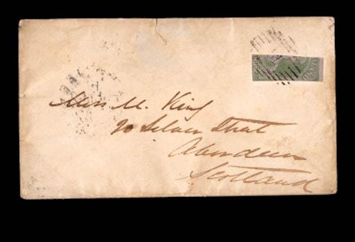 cover 1858 (23 Nov.) envelope