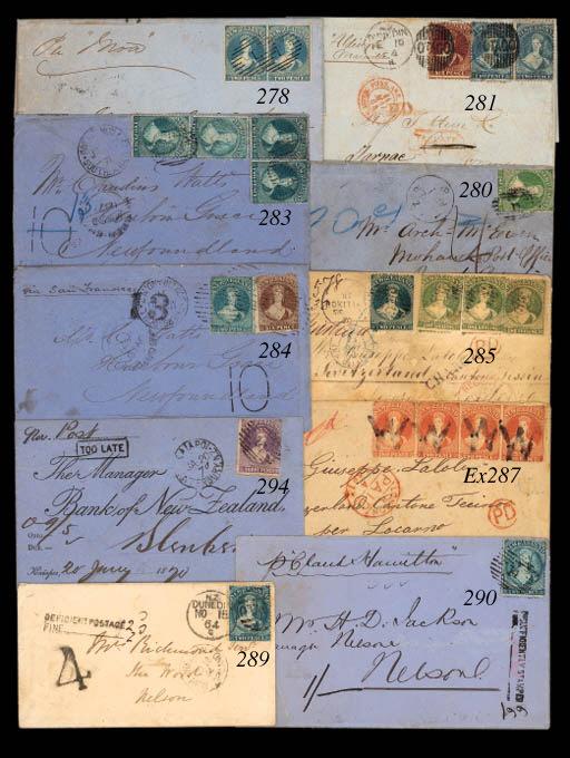 cover FRANCE: 1864 (10 Feb.) e