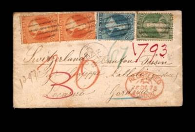 cover -- 1872 (22 Oct.) envelo