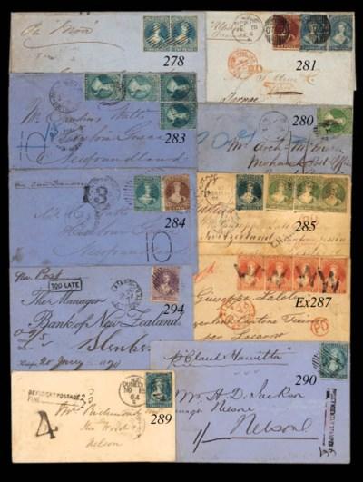 cover 1865 (4 Mar.) blue envel