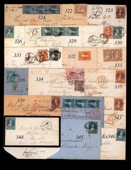 cover MAHIA: 1869 (Oct.) envel