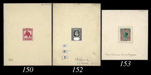essay  1911 Pine 1d. stamp-siz