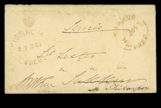 cover 1851 (29 May) envelope,