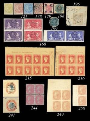 unused Block of Four  1855 blu