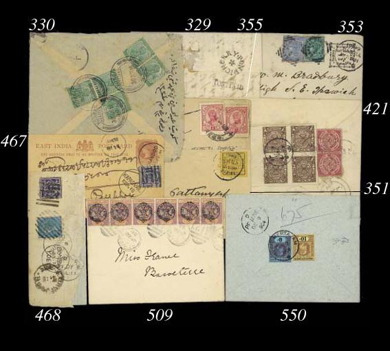 cover 1880 1p. blue pre-cancel