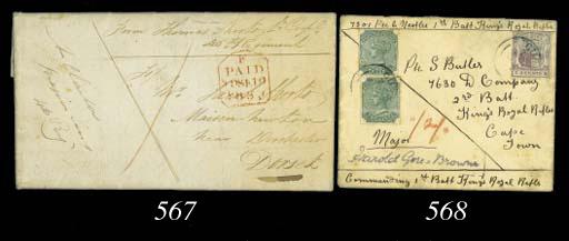 cover 1833 (17 Sep.) entire le