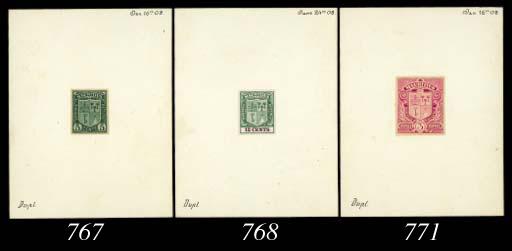 essay  12c. stamp-size die pro