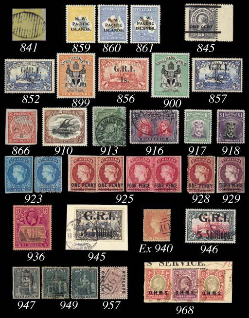 unused  1922 £1 bistre-brown a