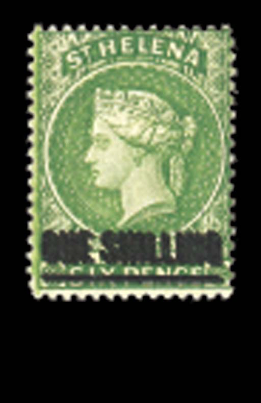 unmounted mint  -- 1/- yellow-