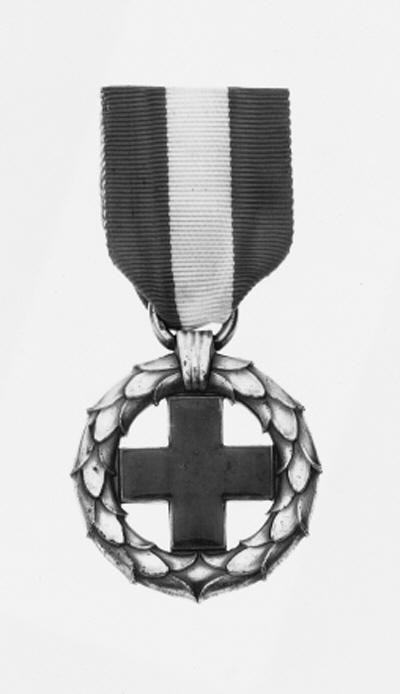 DENMARK, Red Cross Medal for Aid to Prisoners of War 1919, silver and enamel, nearly extremely fine
