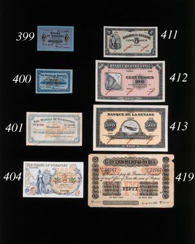Banque de la Guyane, Specimen