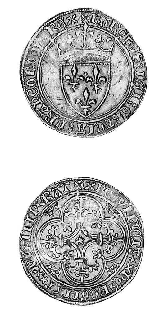 Charles VI, Écu d'or à la cour