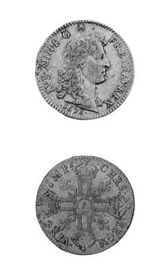 Louis XIV, Louis d'or à la têt