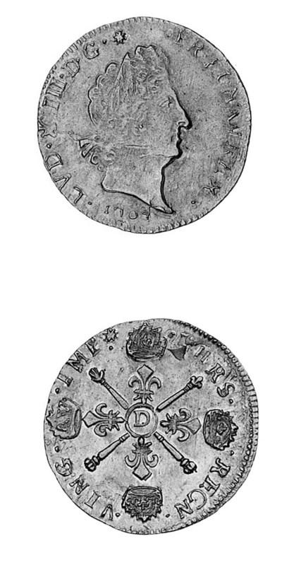 Louis XIV, Louis d'or aux insi