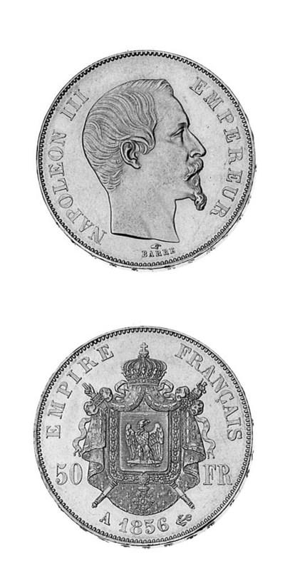 Napoleon III, 50-Francs, 1856
