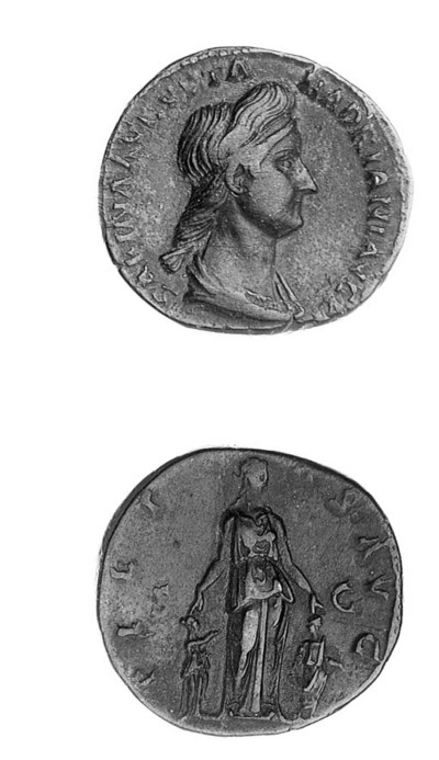 Sestertius, draped bust right,