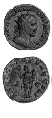 Double Sestertius, a similar c