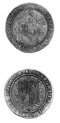 James I (1603-25), first coina
