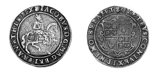James I, third coinage, Halfcr