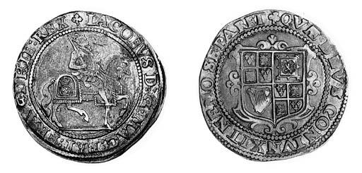 James I, third coinage, Halfcr