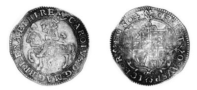Charles I, type 1a2, Halfcrown