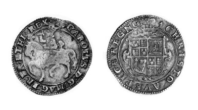 Charles I, type 1B, Halfcrown,