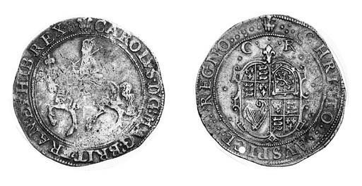 Charles I, type 2a, Halfcrowns