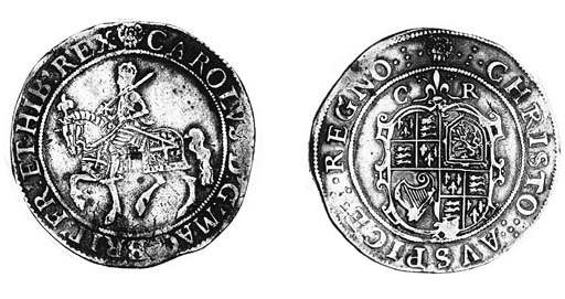 Charles I, type 2a, Halfcrown,