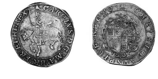 Charles I, type 3a1, Halfcrown