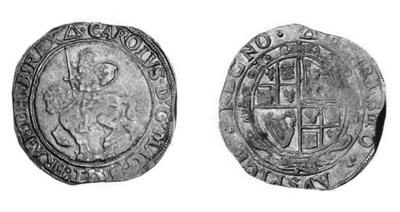 Charles I, type 3a2, Halfcrown