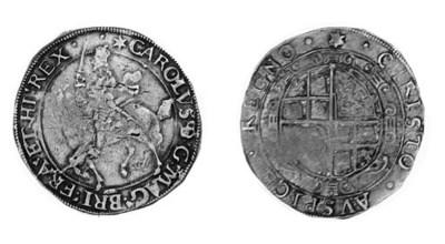 Charles I, type 4, Halfcrown,