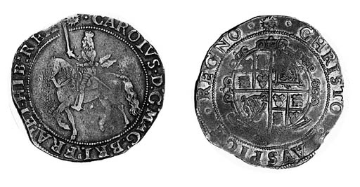 Charles I, type 5, Halfcrown,