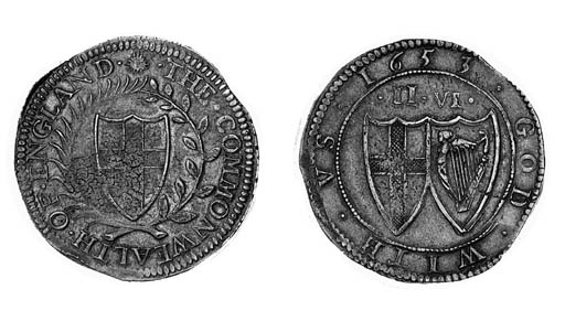 Commonwealth, Halfcrown, 1653,