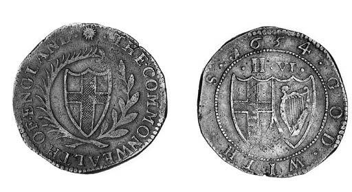 Commonwealth, Halfcrown, 1654,