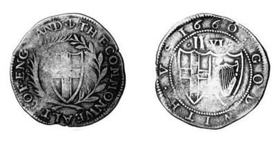 Commonwealth, Halfcrown, 1660,