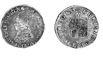 Charles II, second hammered is