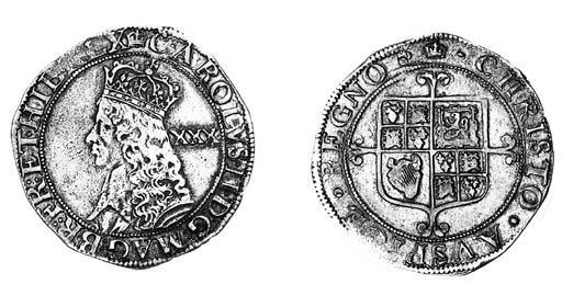 Charles II, third hammered iss