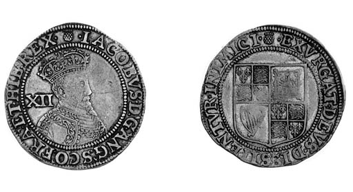 James I, first coinage, Shilli