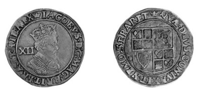 James I, second coinage, Shill
