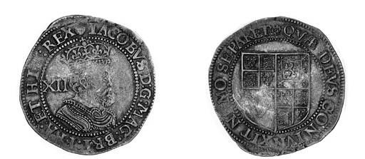 James I, third coinage, Shilli
