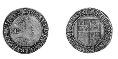 James I, third coinage, Shilli