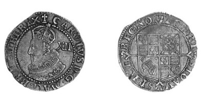 Charles I, Tower, Shilling, 5.