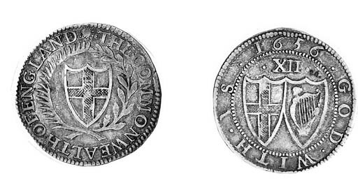 Commonwealth, Shilling, 1656,