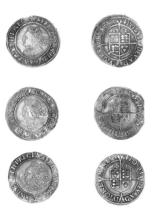 Elizabeth I, Sixpences (3), th