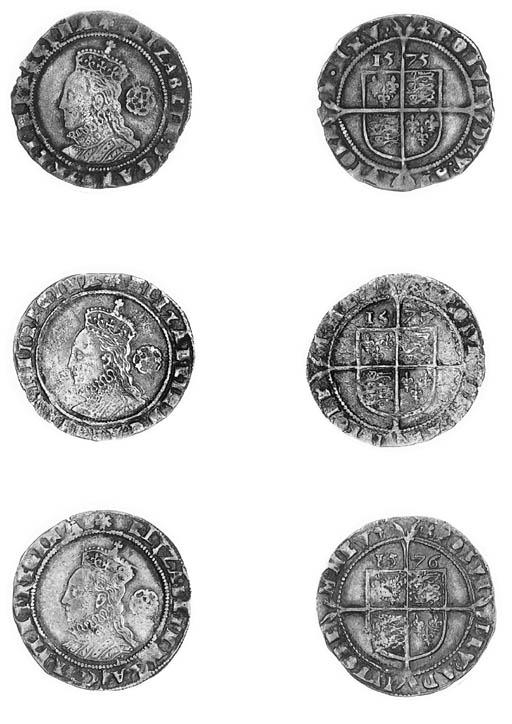 Elizabeth I, Sixpences (4), th