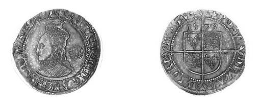 Elizabeth I, Sixpence, fourth