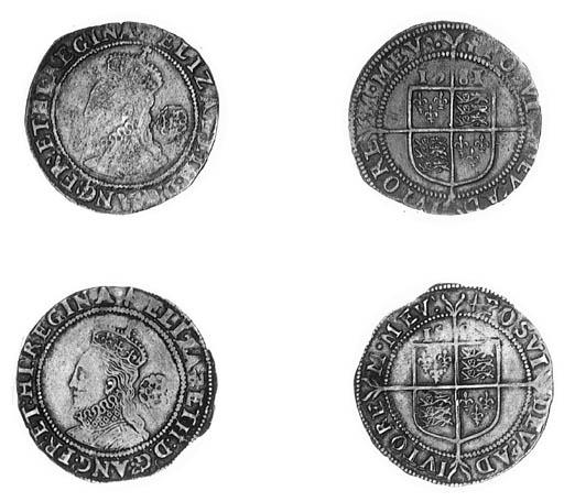 Elizabeth I, Sixpences (2), fo